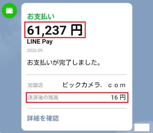 ビックカメラ.comでLINE Pay特典クーポン